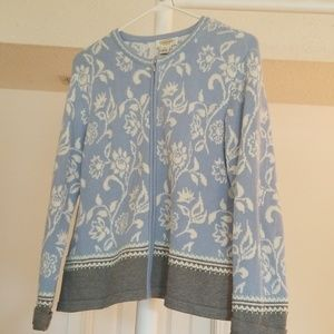 Talbots Petites beautiful size L zip sweater.
